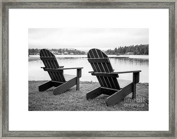 Relaxing At The Lake  Framed Print