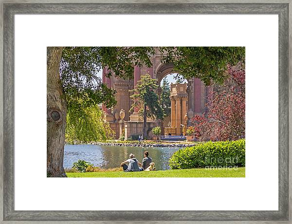 Relaxing At The Palace Framed Print