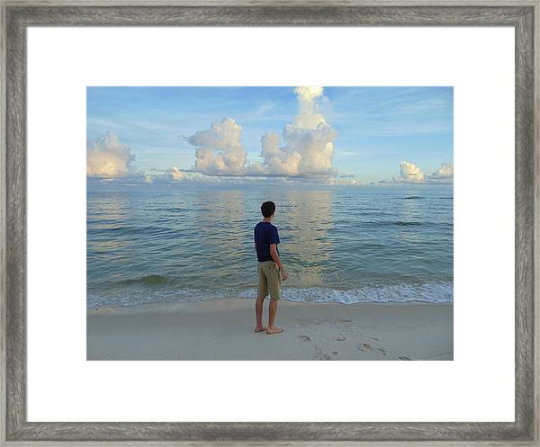Relaxing By The Ocean Framed Print
