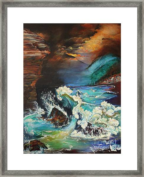 Relentless Wave Framed Print