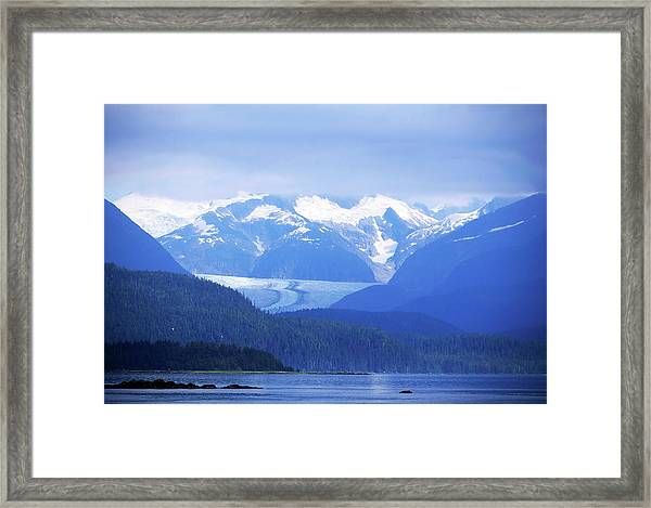 Remains Of A Glacier Framed Print