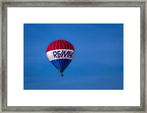Remax Hot Air Balloon Framed Print
