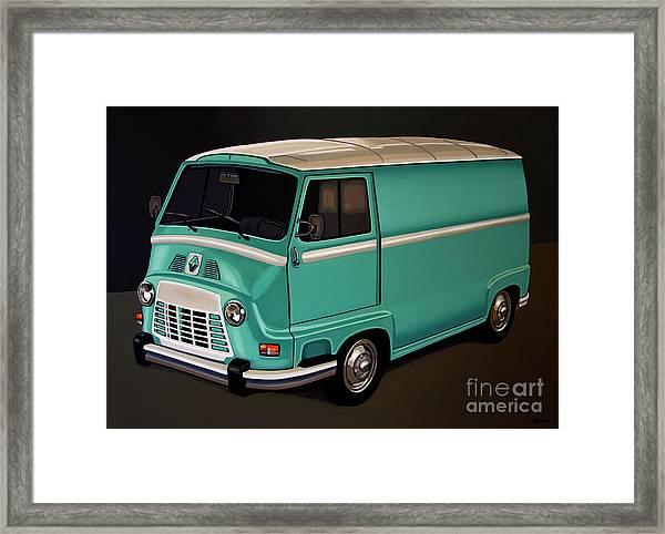 Renault Estafette 1959 Painting Framed Print