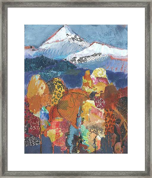 Framed Print featuring the painting Rendezvous by Shelli Walters