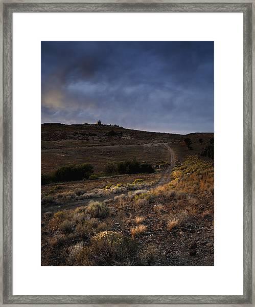 Reno Sunset Framed Print