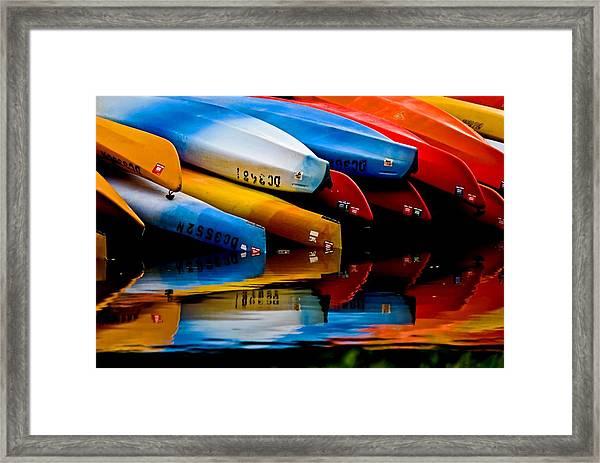 Rental Canoes Framed Print
