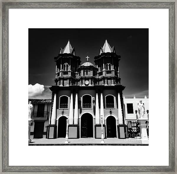 Replica Church In El Penol Framed Print
