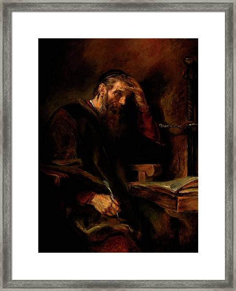 Replica Of Rembrandt's Apostle Paul Framed Print