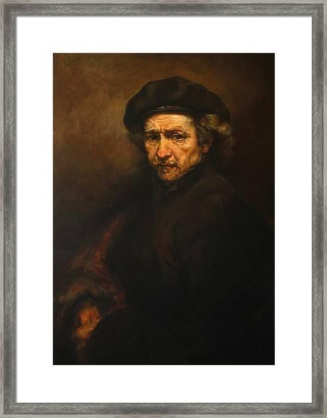 Replica Of Rembrandt's Self-portrait Framed Print