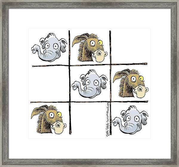 Republicans Win Tic Tac Toe Framed Print