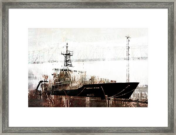 Research Vessel Atlantis In Astoria Oregon Framed Print
