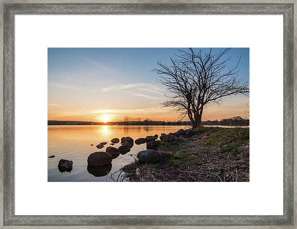 Reservoir Sunset Framed Print