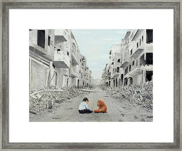 Framed Print featuring the painting Resilience by Kevin Daly