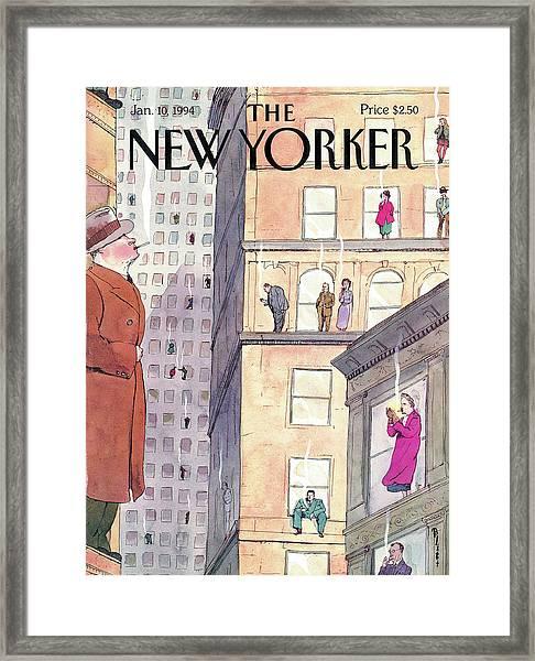 New Yorker January 10th, 1994 Framed Print by Barry Blitt