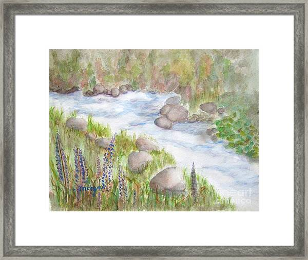 Rest By My Waters Framed Print
