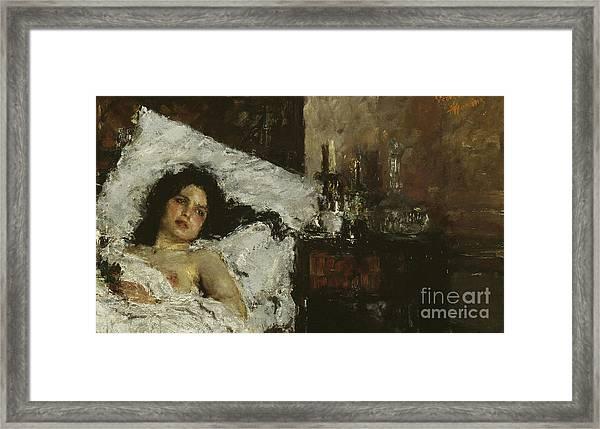 Resting Framed Print