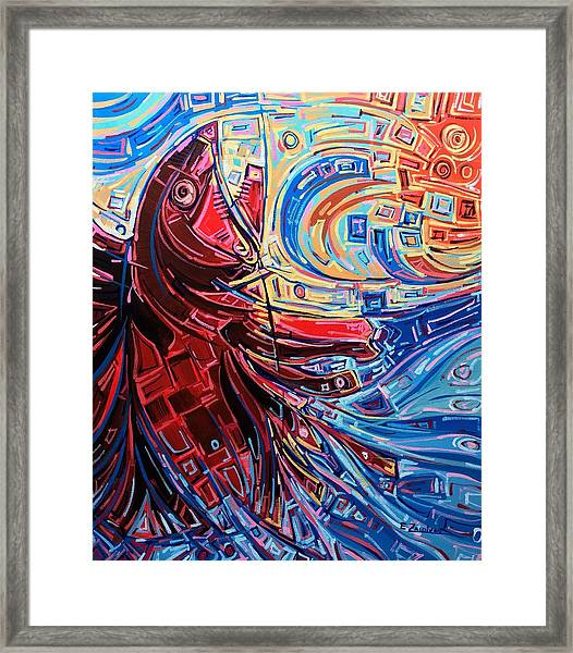 Restless Waters Framed Print