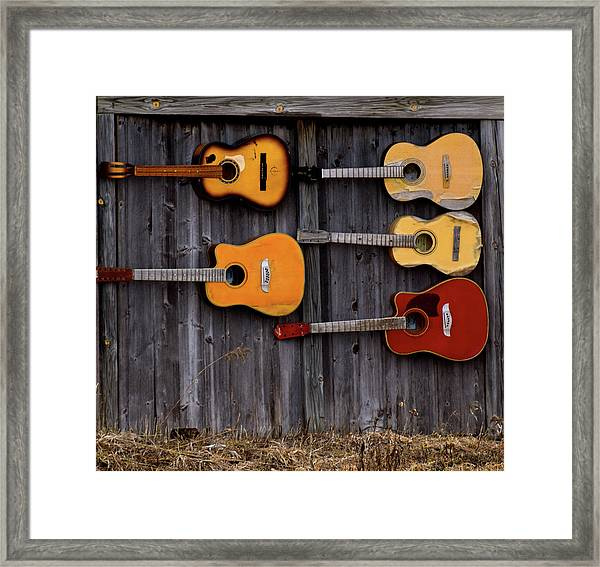 Retired Guitars  Framed Print