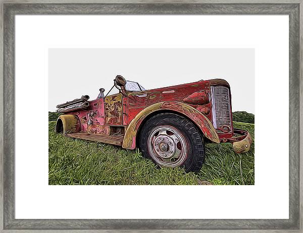 Retired Hero Framed Print
