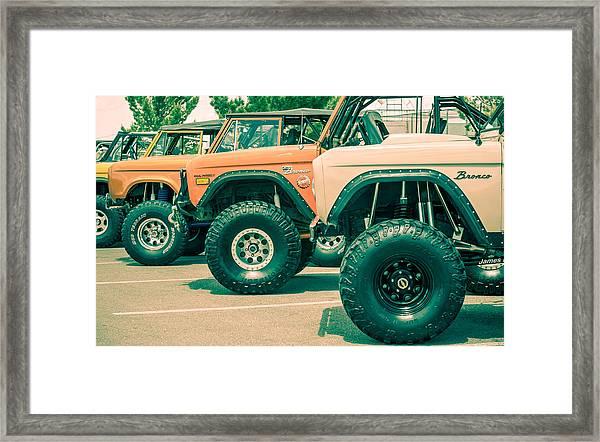 Retro Bronco Heaven Framed Print