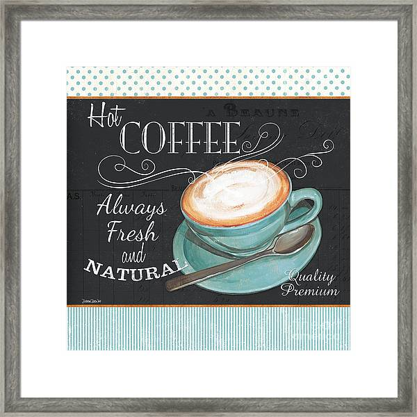 Retro Coffee 1 Framed Print