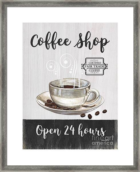 Retro Coffee Shop 1 Framed Print