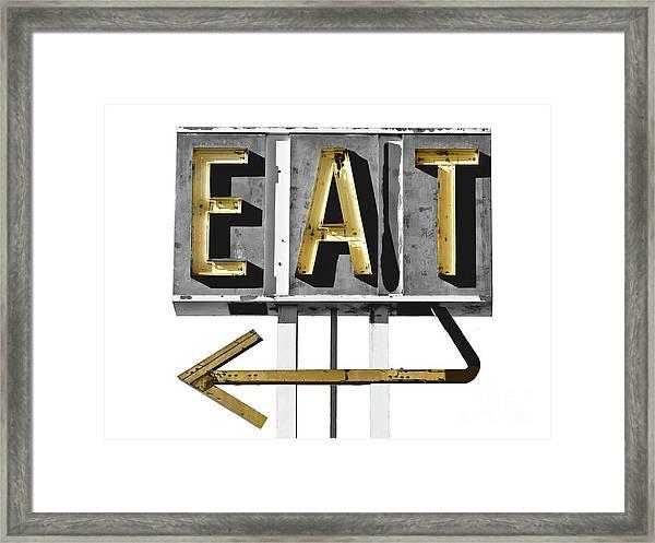 Retro Diner Sign Framed Print