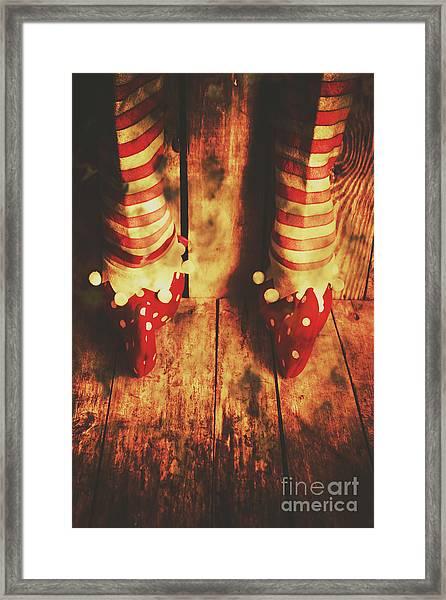 Retro Elf Toes Framed Print