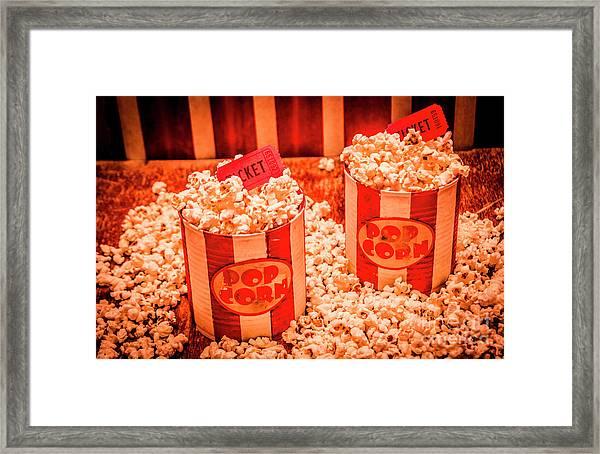 Retro Film And Entertainment Scene Framed Print