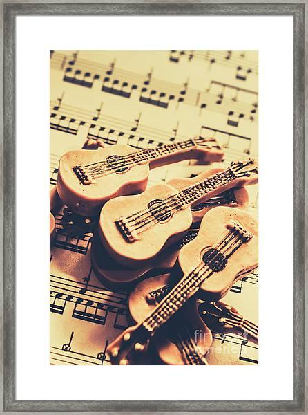 Retro Folk And Blues Framed Print