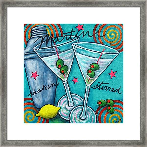 Retro Martini Framed Print
