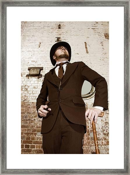 Retro Nobel Man Framed Print