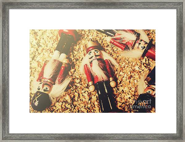 Retro Nutcrackers Framed Print