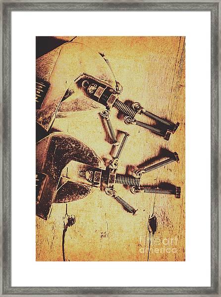 Retro Robot Revival Framed Print