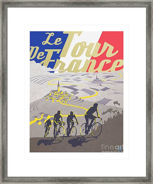 Retro Tour De France Framed Print