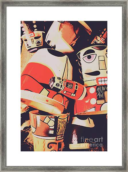 Retro Toy Memories Framed Print