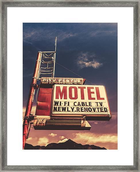Retro Vintage Motel Sign Framed Print