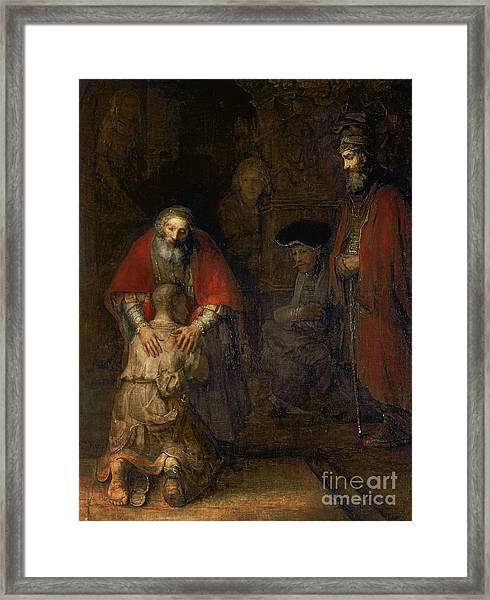 Return Of The Prodigal Son Framed Print
