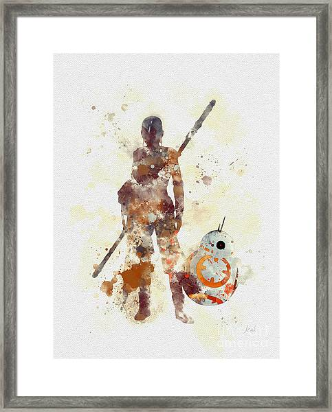 Rey And Bb8 Framed Print