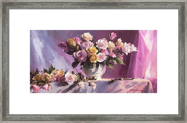 Rhapsody Of Roses Framed Print