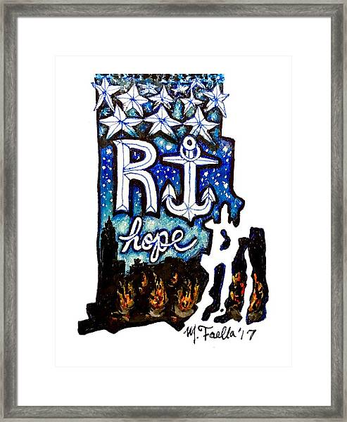 Rhode Island, Hope Framed Print