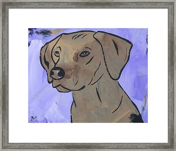 Framed Print featuring the painting Rhodesian Ridgeback by Candace Shrope
