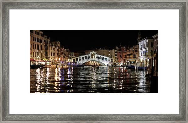 Rialto Night - 4284 Framed Print