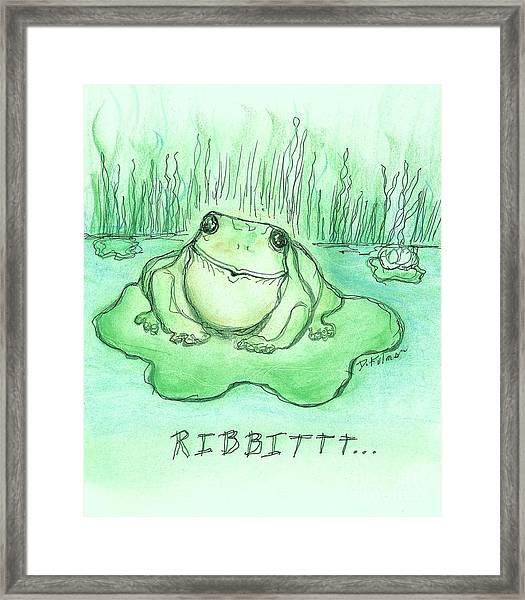 Ribbittt.... Framed Print