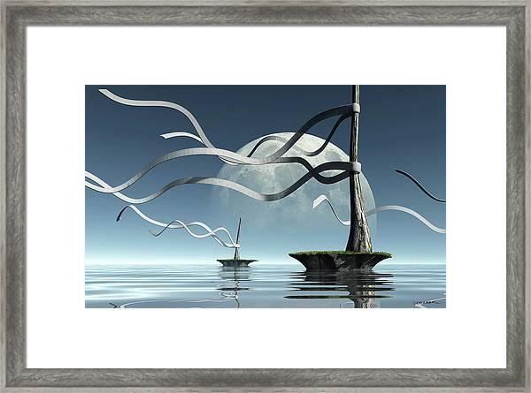 Ribbon Island Framed Print