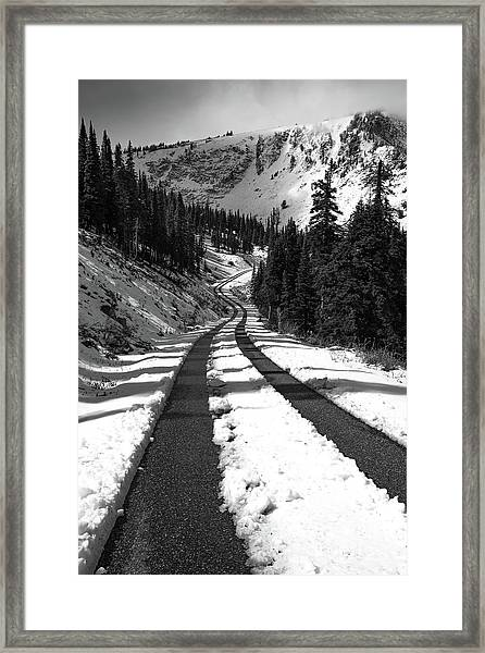 Ribbon To The Unknown Monochrome Art By Kaylyn Franks Framed Print
