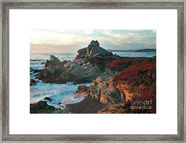 Ribera Beach Sunset Carmel California Framed Print