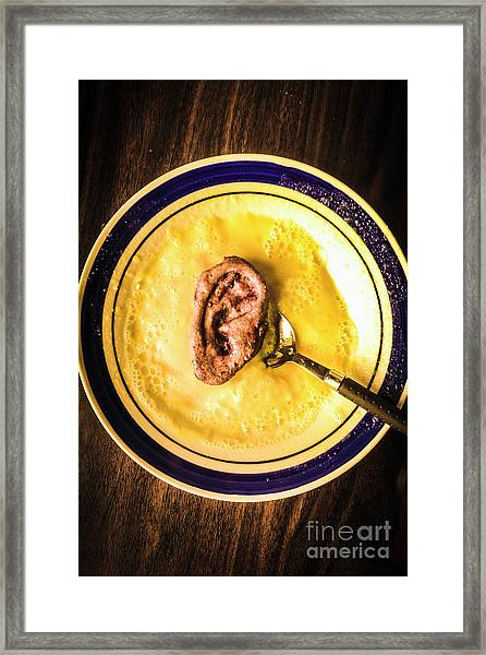 Rich And Creamy, Just The Way I Like It Framed Print