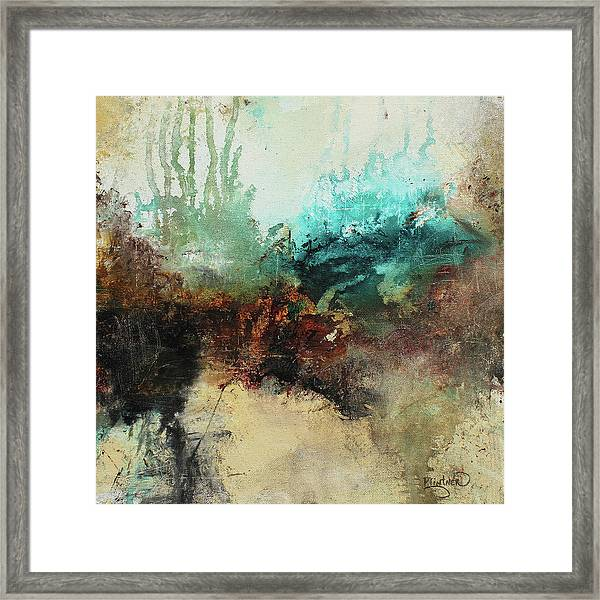 Rich Earth Tones Abstract Not For The Faint Of Heart Framed Print
