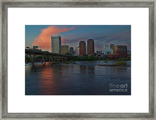 Richmond Dusk Skyline Framed Print